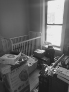 finding a place for the baby stuff