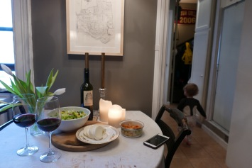 our sweet tiny kitchen table